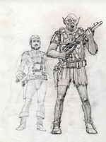 Han Solo Chubakka early sketch
