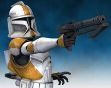 Waxer with his blaster