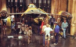 Theed hangar bay set at Leavesden Studios