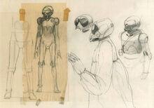 Death Star droid sketches