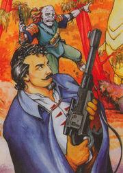 Karrde... with a gun!!!