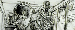 C-3PO R2-D2 early storyboard