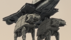 Gozanti with AT-ATs