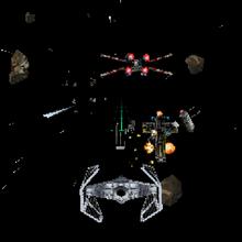 Imperial Ace Y-wing destruction