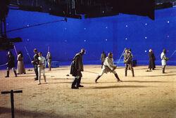 Jedi at arena bluescreen