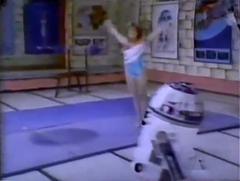 Mary Lou Retton and R2-D2