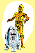 Droids for comic cover