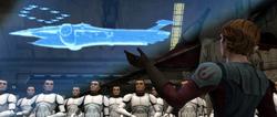 Skywalker briefs Shadow Squadron