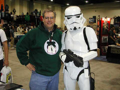 Christopher Moeller at San Diego Comicon, 2005, with Stormtrooper