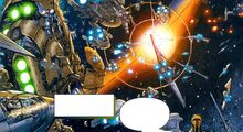 Vanquo space battle