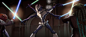Duel with Grievous concept art