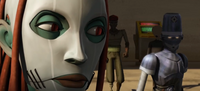 Kassie and droid