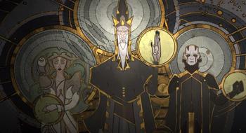 Боги Мортиса фреска