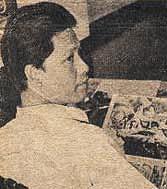 Alfredo Alcala at his studio