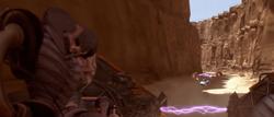 Anakin outruns Sebulba ANH
