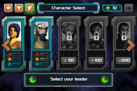 Selecting menu Strike