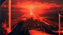 Volcano planet by Ryan Church