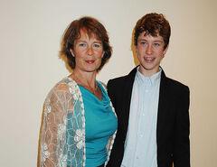 Celia Imrie and Angus