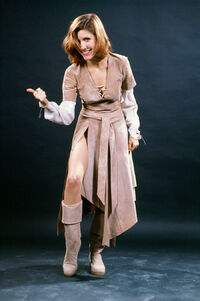 Carrie Fisher in Endor costume