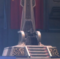 Emperor on his throne