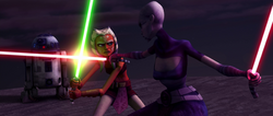 Ahsoka vs Ventress Teth