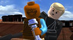 Pagetti Rook and lightsaber LEGO Saga