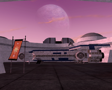 Shuttle at Coronet spaceport SWG