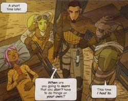 Гера, Зеб и Кэнан у кровати
