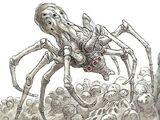 Узловатый белый паук