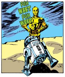 R2-D2 running SW1