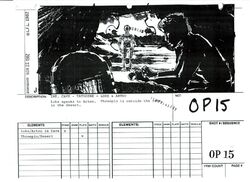 Luke R2-D2 in Cave storyboard
