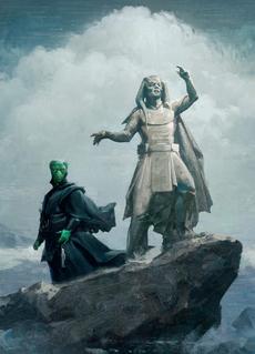 Дарт Калдот и статуя Ри Нимбуса