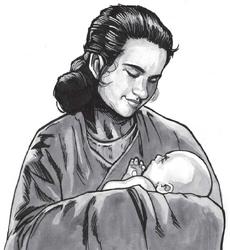 Shmi and baby Anakine