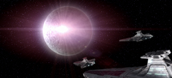 «Зловещий» врезается в Мёртвую луну Антара