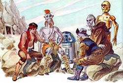 Jann Tosh with companions