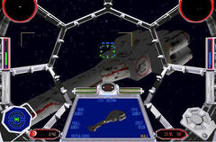 Corellian corvette Tie Fighter