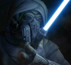 Plo Koon with Sifo-Dyas lightsaber
