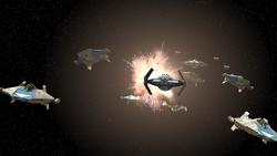 Vader attacks the Phoenix fleet