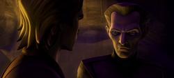 Таркин разговаривает с Энакином