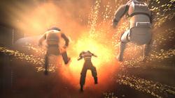 Imperial shuttle explodes
