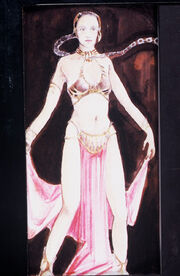 Slave leia sketch by Aggie Guerard Rodgers