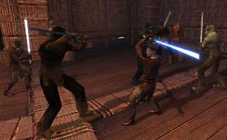 Revan fighting Kashyyyk