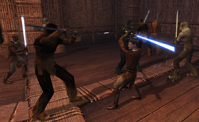 Revan fighting Kashyyyk