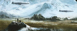 Alderaan landscape concept art