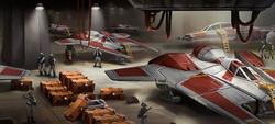 SWC Fang Fighter hangar