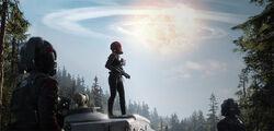 Отряд «Инферно» наблюдает за уничтожением Звезды Смерти II