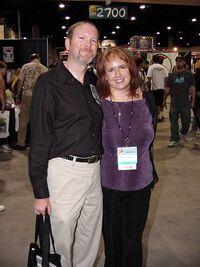 Kevin J. Anderson and Rebecca Moesta-Comic Con 2004