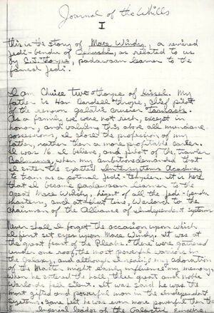 Journal of the Whills from first draft