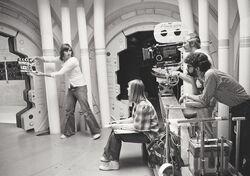 George Lucas Ann Skinner filming