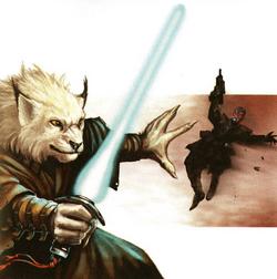 Jedi fights Sith assassin